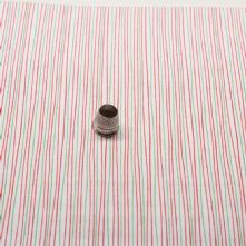 Red and Green Stripe 100% Cotton Fabric x 0.5m